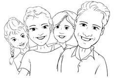 4 persone szczęśliwy famlly Zdjęcie Stock