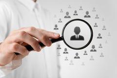 Personeel en CRM Royalty-vrije Stock Afbeeldingen