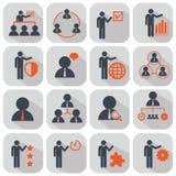 Personeel en geplaatst beheerspictogrammen royalty-vrije illustratie
