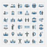 Personeel en geplaatst beheerspictogrammen stock illustratie