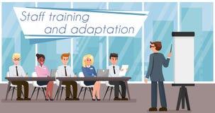 Personeel Opleiding en Aanpassing Vector illustratie stock illustratie