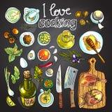 Personeel van het koken Stock Foto's