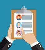 Personeel, werkgelegenheid, vlakke de illustratieconcepten van het teambeheer vector illustratie
