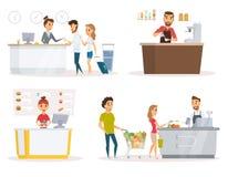 Personeels vectorreeks royalty-vrije illustratie