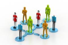Personen 3d im Sozialen Netz Lizenzfreies Stockfoto