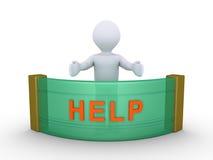 Personen ger hjälp Arkivbilder