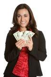 Personen-Holding-Geld Lizenzfreie Stockbilder
