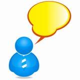 Personen-Ikone mit Sprache-Luftblase und Gleichheit Lizenzfreie Stockfotos