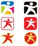 Personen-laufendes gehendes Zeichen Lizenzfreies Stockfoto