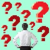 Personen som frågar frågan Vektor Illustrationer