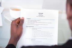 Personenlesezusammenfassung Lizenzfreies Stockbild