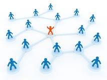 personennetwerk stock illustratie