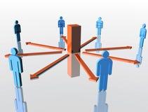 Personennetwerk Stock Afbeelding