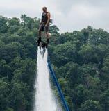 Personenvervoer een hydroflight x-raad op meer Stock Foto's