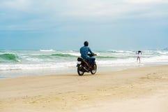 Personenvervoermotor bij het Strand van China in Danang in Vietnam Royalty-vrije Stock Afbeeldingen