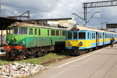 Personenzüge in Polen Stockbild