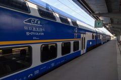 Personenzug an der Station Lizenzfreies Stockbild