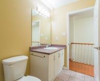 2 personer för mosaik för blå idérik för design för badrum för bad som 3d tom inre spegel för lampa moderna framför hyllor, sink  Royaltyfri Fotografi
