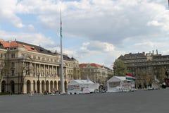 Personer som protesterar i Budapest Royaltyfri Foto
