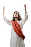 Personifacation de Jésus-Christ sur le blanc Images stock
