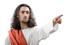 Personifacation del Jesucristo aislado imagen de archivo