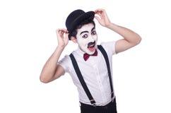 Personificación de Charlie Chaplin Imagen de archivo libre de regalías