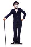 Personificación de Charlie Chaplin Fotografía de archivo
