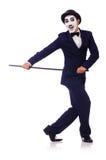 Personificación de Charlie Chaplin Imágenes de archivo libres de regalías