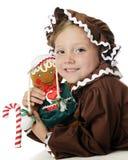 Personificadores de la muchacha del pan de jengibre Imágenes de archivo libres de regalías