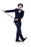 Personificação de Charlie Chaplin Fotos de Stock Royalty Free