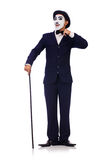 Personification of Charlie Chaplin Royalty Free Stock Photography