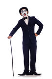 Personification of Charlie Chaplin Stock Photos
