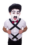 Personification of Charlie Chaplin Stock Image