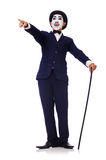 Personification of Charlie Chaplin Stock Images