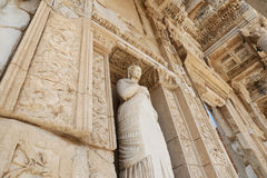 Personification of Virtue, Arete Statue in Ephesus Ancient City Royalty Free Stock Photos