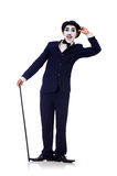 Personificazione di Charlie Chaplin Immagine Stock Libera da Diritti