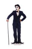 Personifikation av Charlie Chaplin Arkivfoton