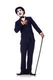 Personifikation av Charlie Chaplin Arkivbilder