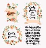 Personifiziertes Monogramm in den Weinlesefarben Stilvoller Buchstabe K Kann als Grußkarte, Einladungskarte verwendet werden Blum Stockfoto
