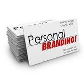 Personlig Brännmärka Affär Kort Annonseringar Serva Företag royaltyfri illustrationer