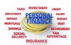 Personlig finans framför Royaltyfri Fotografi