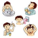 Personlig hygien av personen Arkivbilder