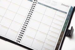 personlig kalenderorganisatör Arkivfoto