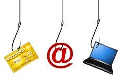 personlig phishing för data Fotografering för Bildbyråer