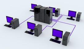 personlig server för datorer Royaltyfri Bild