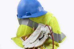 Personlig skyddsutrustning i en hög Arkivbild