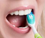 personlig tand- hygien Fotografering för Bildbyråer
