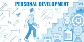 Personlig utvecklingsillustration Fotografering för Bildbyråer