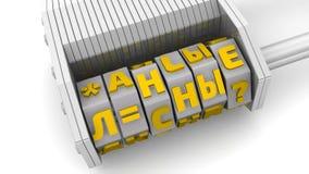 Personliga data Kod på en kombinationshänglås