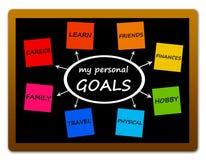 Personliga mål Fotografering för Bildbyråer